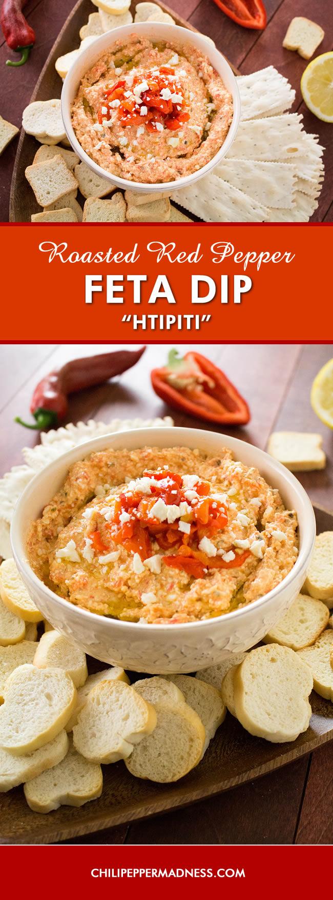 Roasted Red Pepper-Feta Cheese Dip (Htipiti) - Recipe