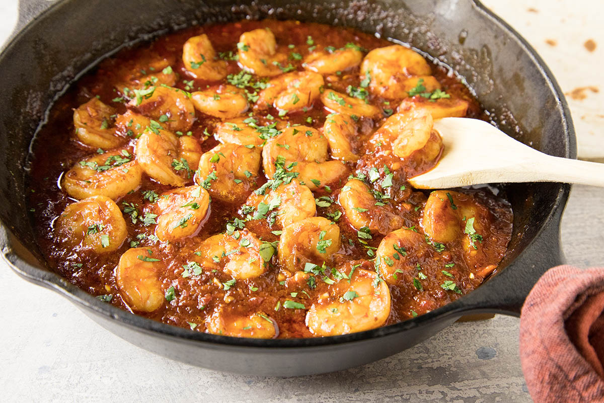 Shrimp with Chipotle-Bourbon Butter Sauce – Recipe