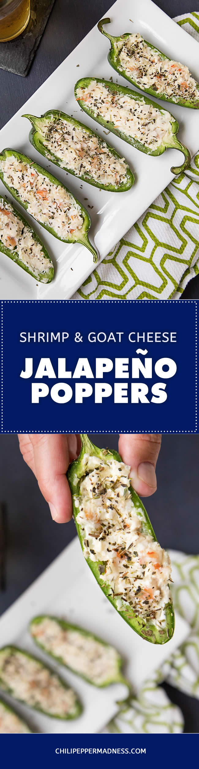 Shrimp and Goat Cheese Jalapeno Poppers - Recipe