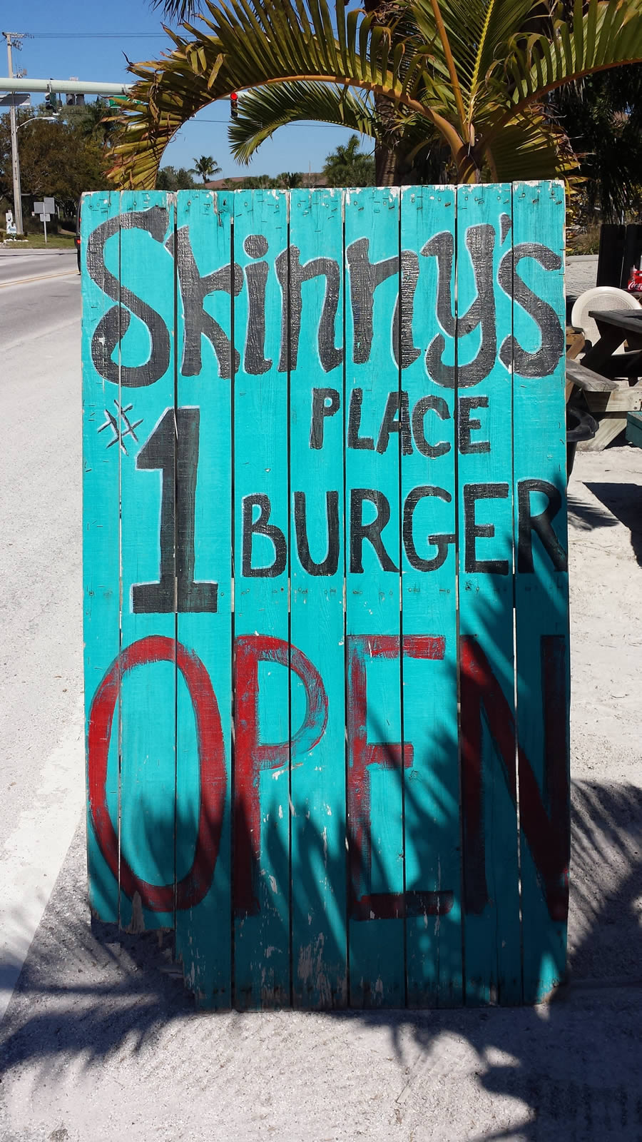 Just Outside Skinny's Place in Anna Maria Island, Florida