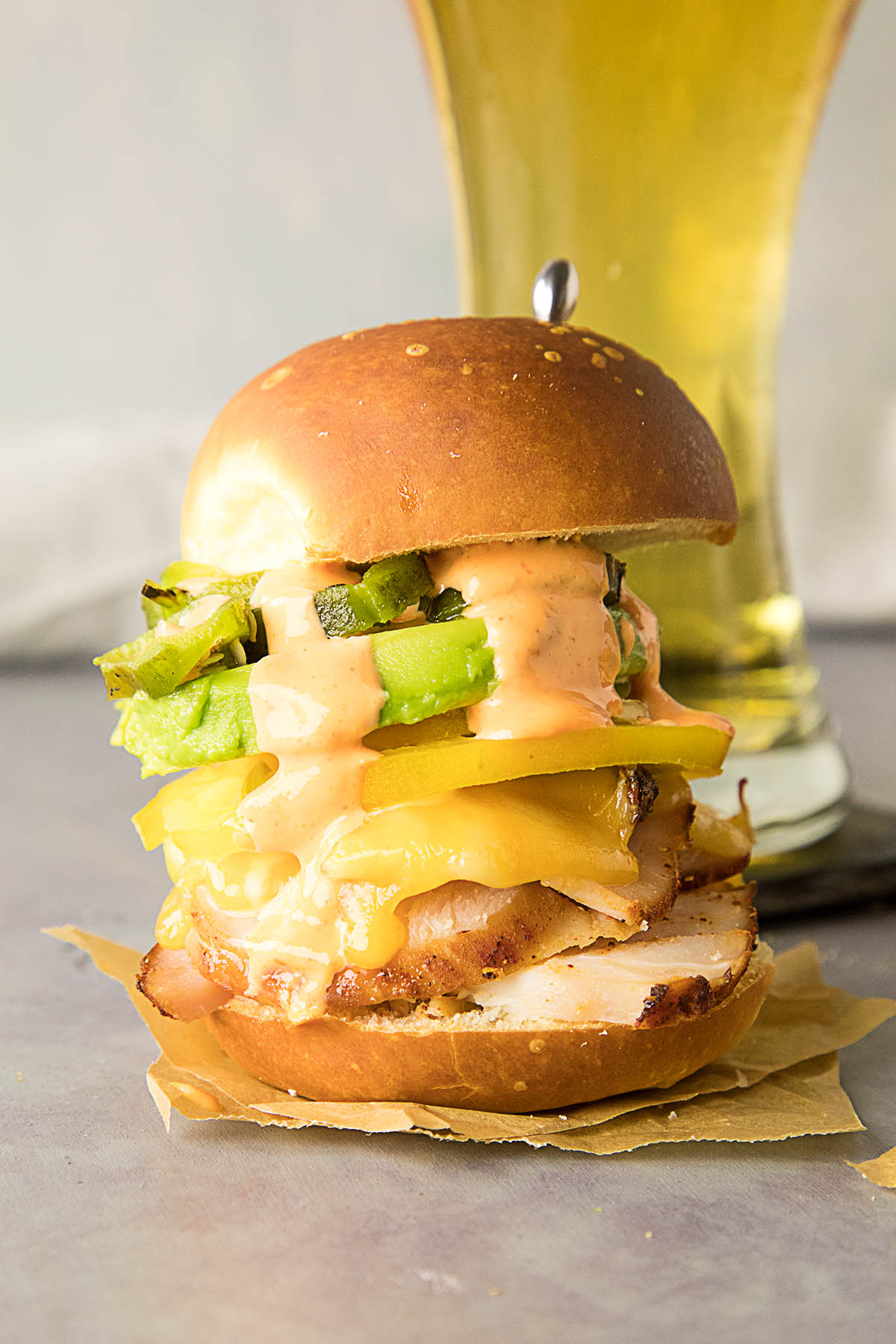 Smoked Turkey Sliders Sriracha Mayo