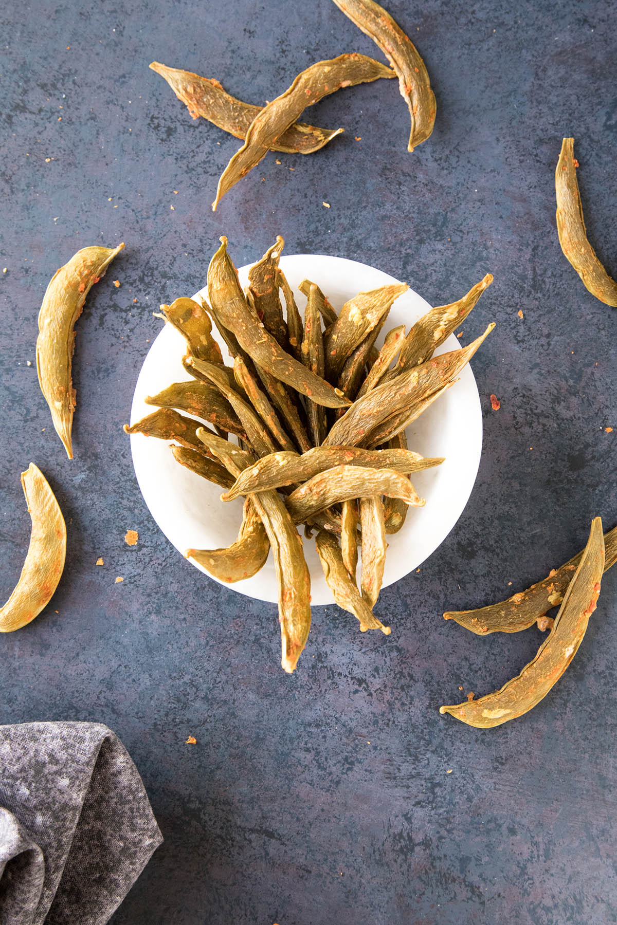 Spicy Homemade Snap Pea Crisps Recipe