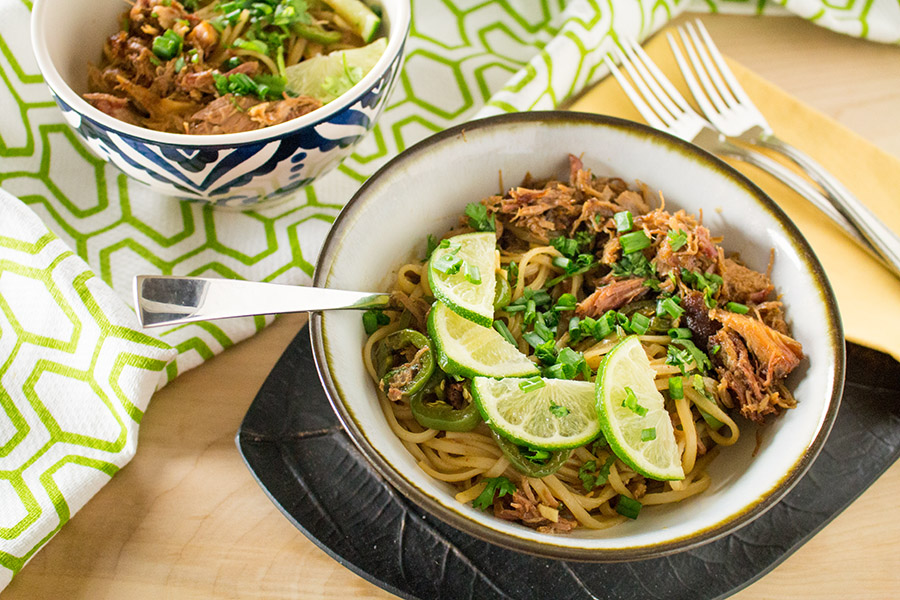 Spicy Pork Noodle Bowl - Recipe
