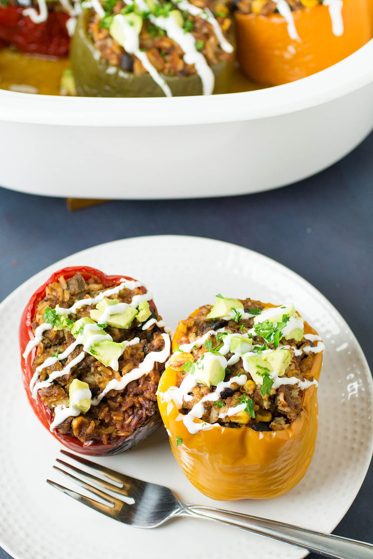Crock Pot Stuffed Peppers – Mexican Style