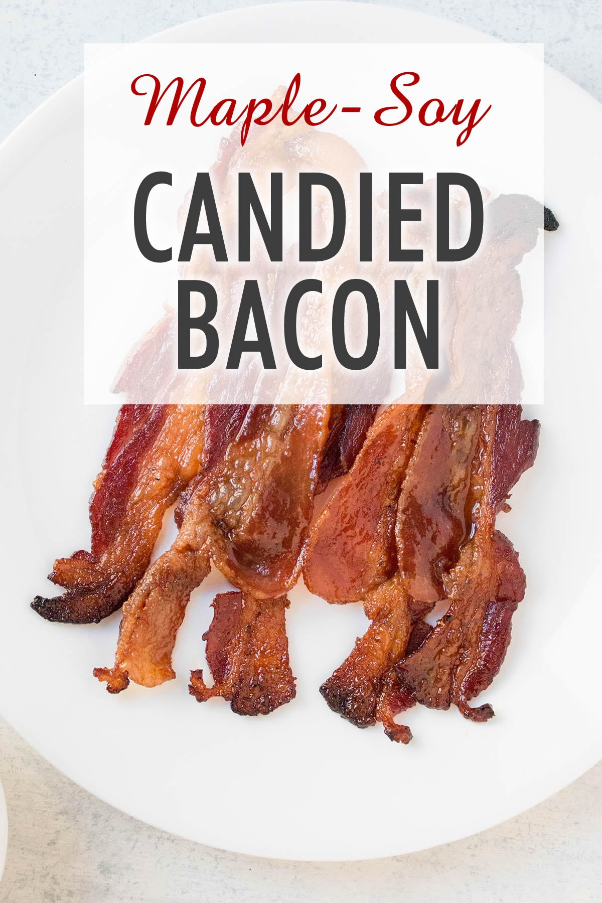 Oven Baked Maple-Soy Candied Bacon