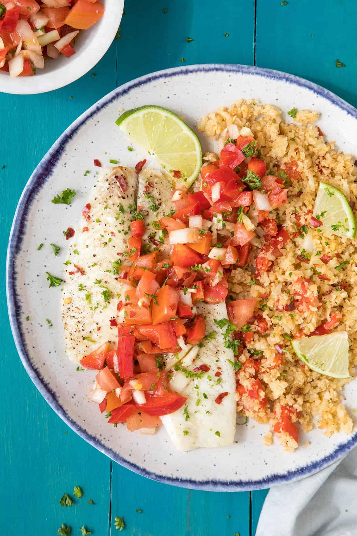 Baked Flounder Salsa Criolla Recipe - Big on flavor