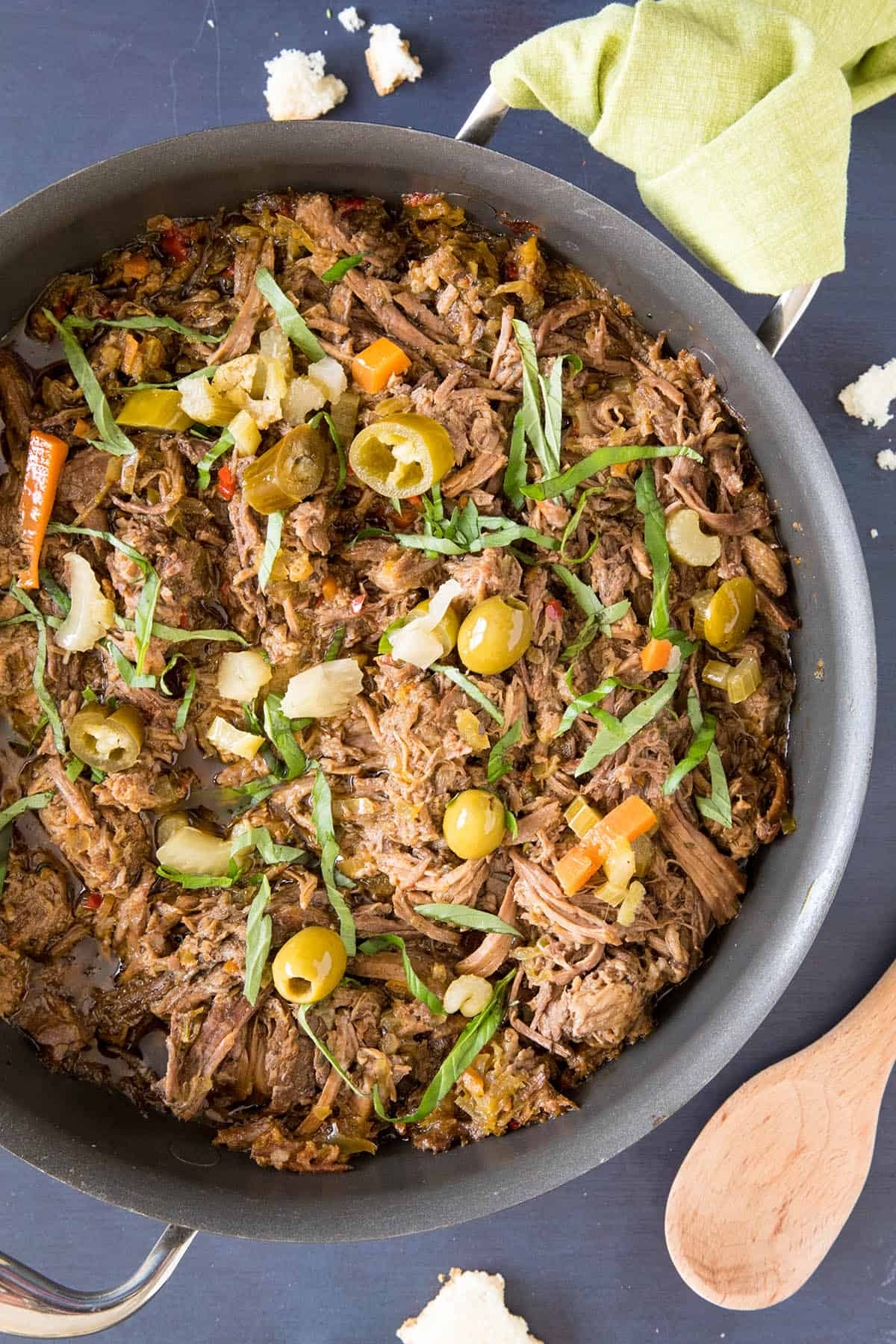 Feisty Italian Slow Cooker Pot Roast - This pot roast is super tender.