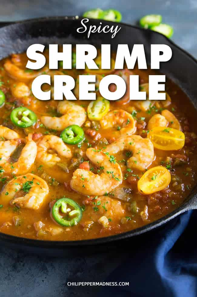 Shrimp Creole - Recipe | ChiliPepperMadness.com #shrimp #Creole #Cajun #Dinner
