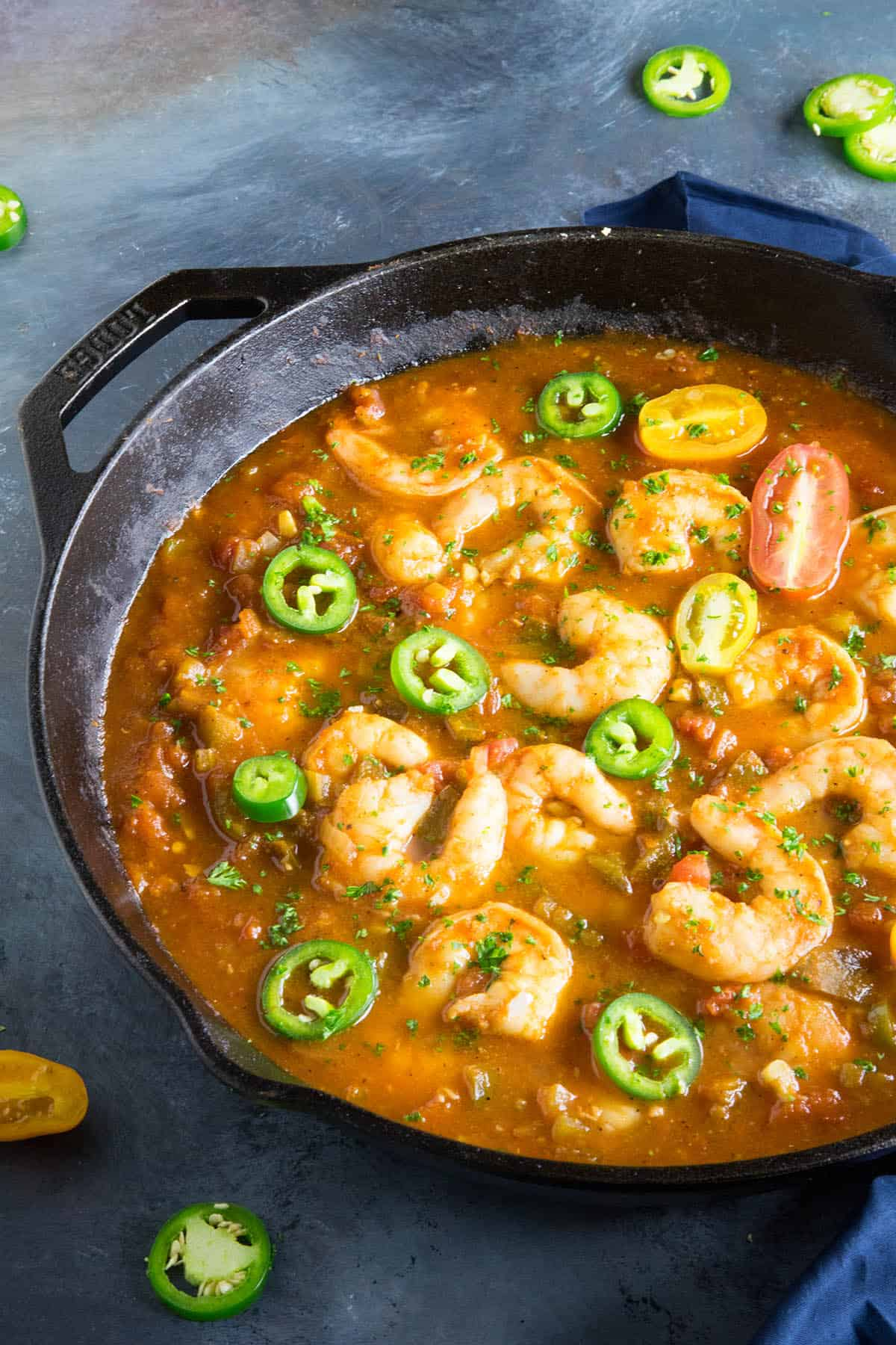 Shrimp Creole Recipe - Nice and Spicy - Topped with Extra Spicy Peppers