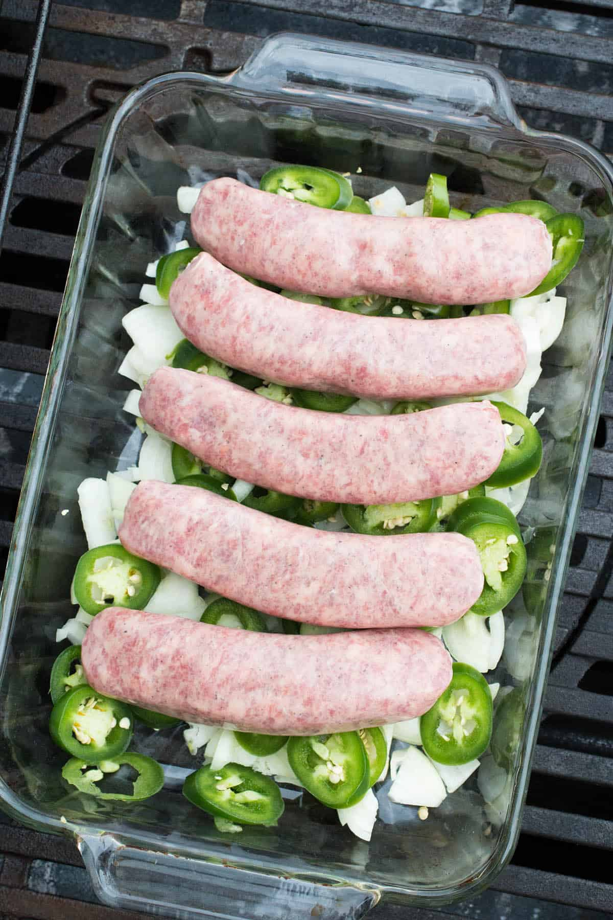 How to Make Beer Brats - Layer the Sausages