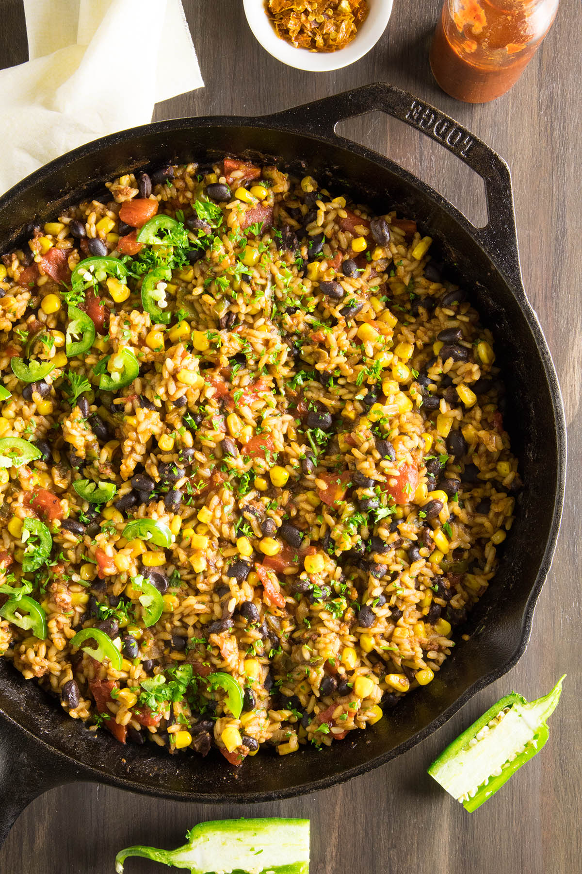 Mexican Rice with Chorizo and Black Beans - One-Pan Recipe