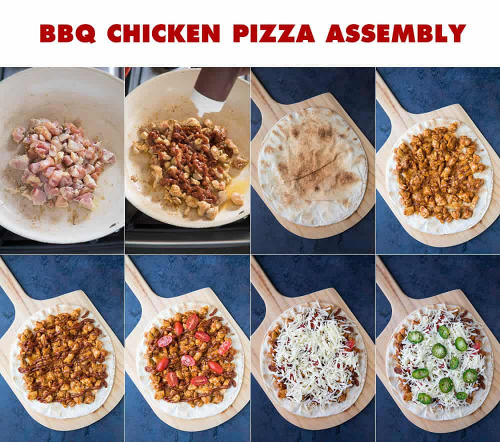 BBQ Chicken Pizza Assembly