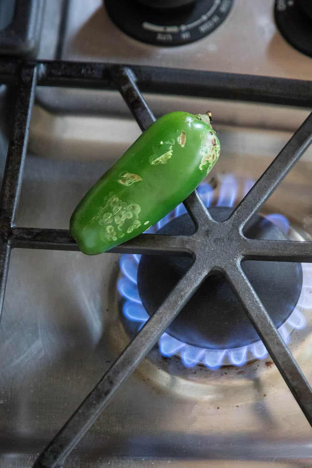 Roasting Jalapeno Peppers - Over the Flame