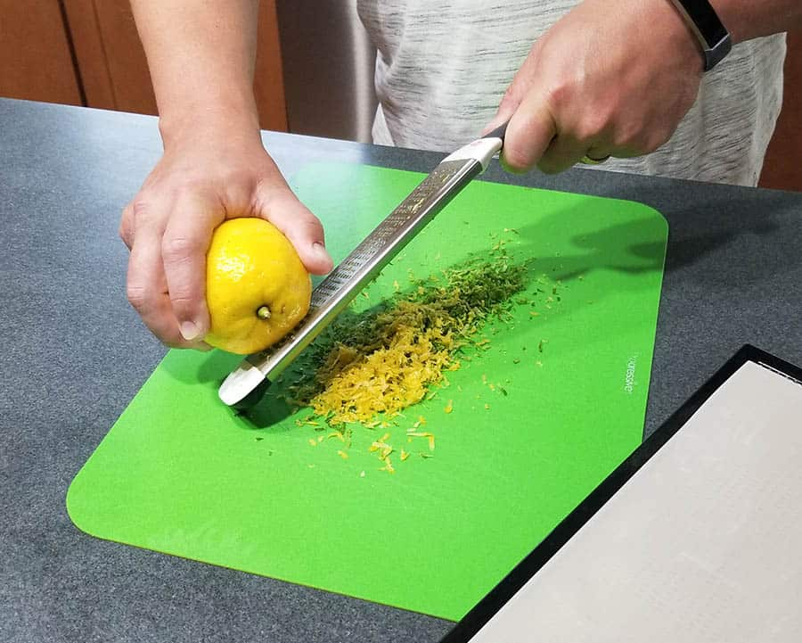 Zesting lemons and limes for making citrus salt