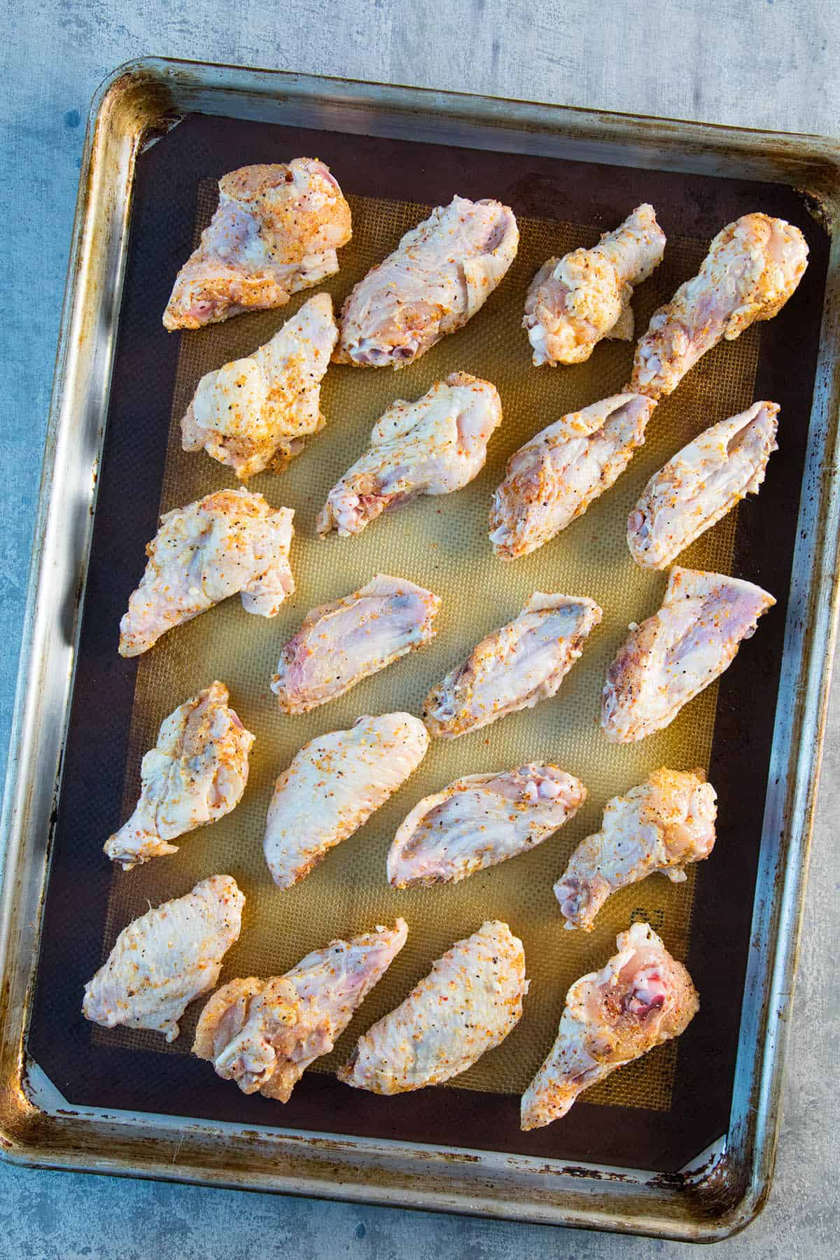 Chicken Wings Before They are Baked