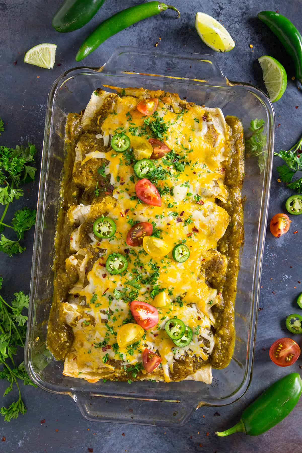 Chicken Enchiladas Verde - Baked and Ready to Serve