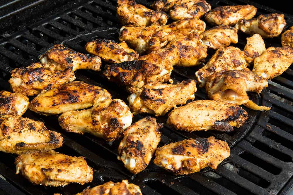 Ghost Pepper Chicken Wings on the Grill