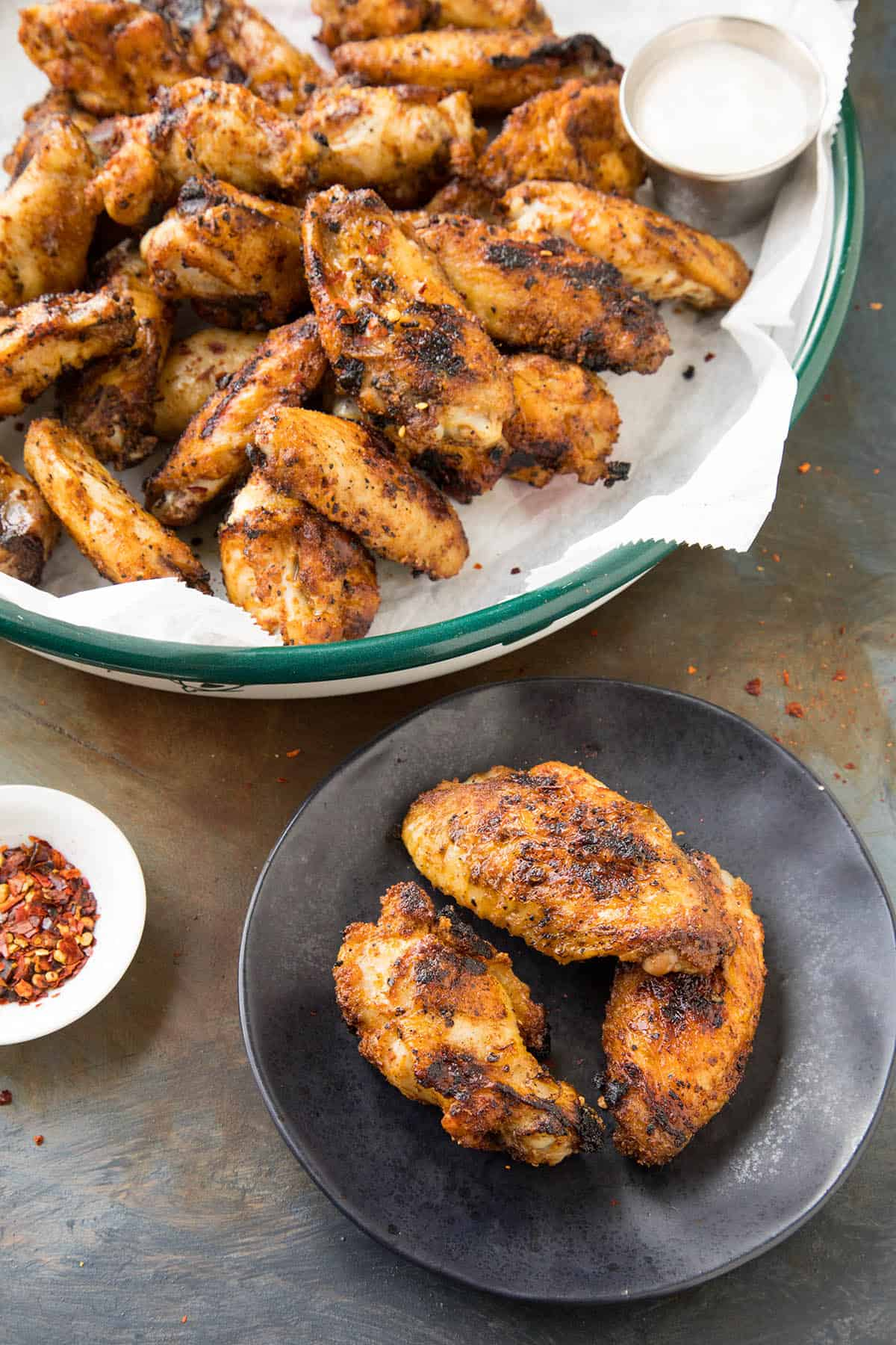 These Grilled Ghost Pepper Chicken Wings are ready to eat!