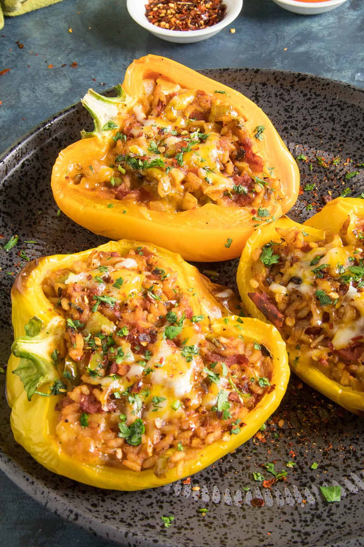 Spicy Vegetarian Stuffed Peppers