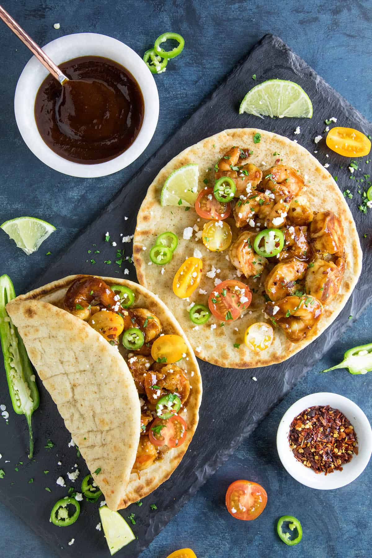 BBQ Shrimp Flatbreads - Ready to eat