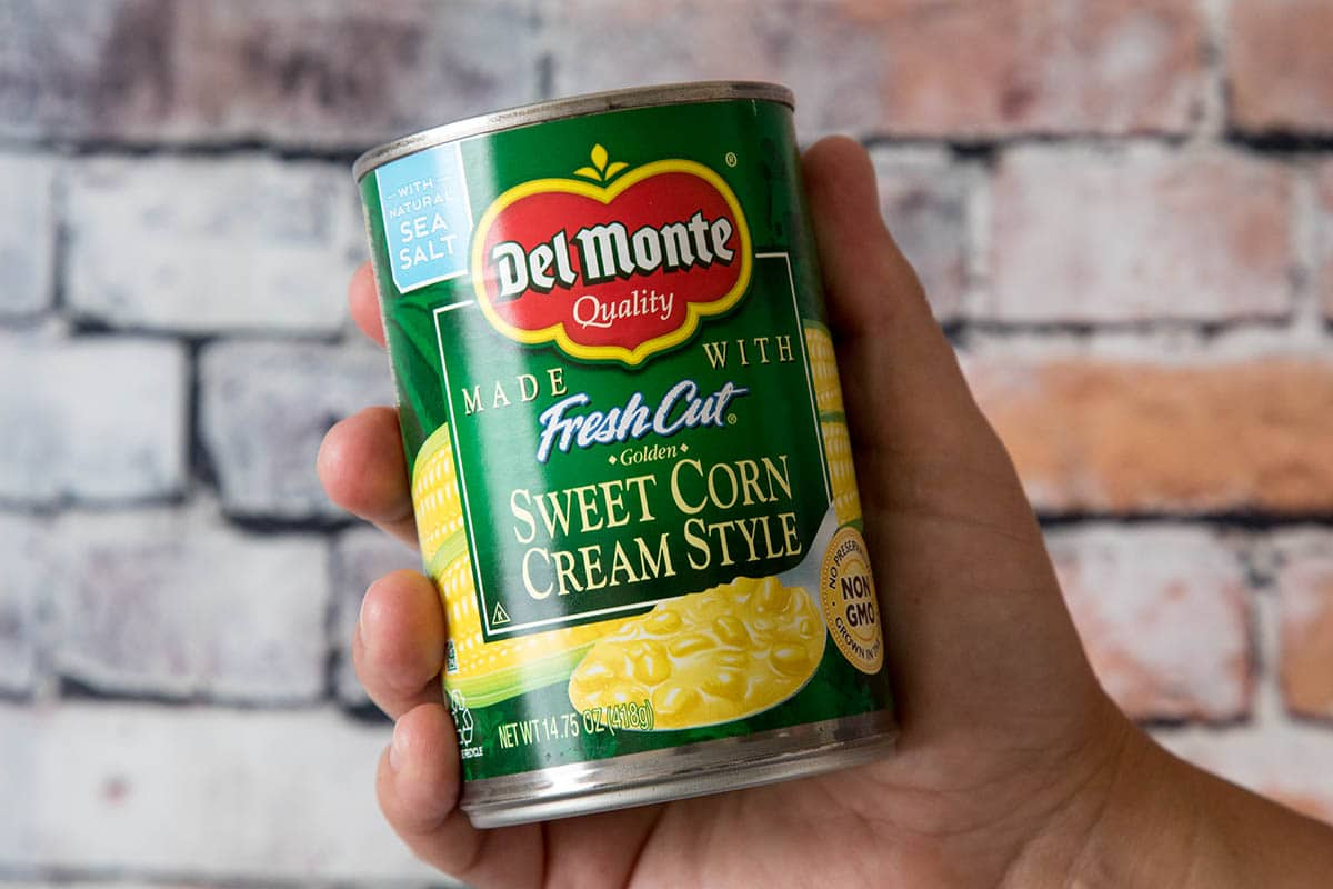 Del Monte® Cream Style Golden Sweet Corn in my hand