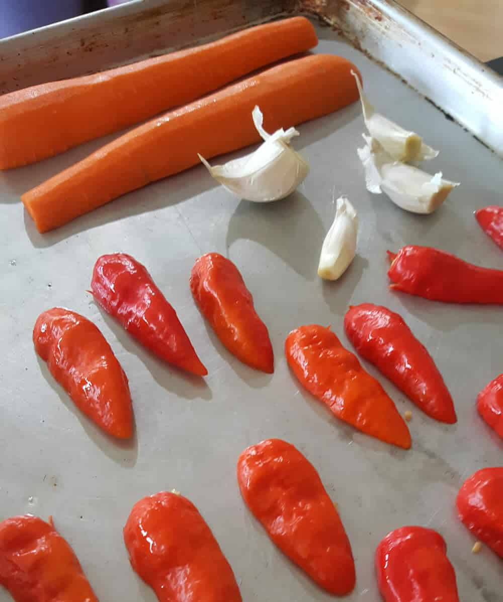 Roasting the Carrots, Ghost Peppers andGarlic
