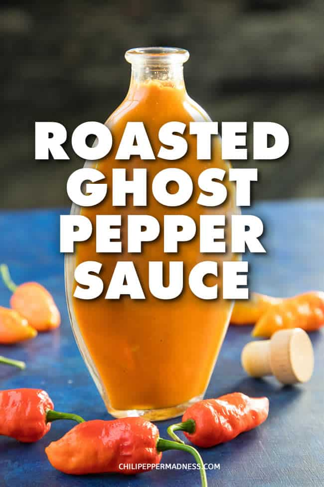 Roasted Ghost Pepper Sauce - This roasted ghost pepper sauce recipe roasts several ghost peppers with carrots and garlic to make a very spicy yet also sweet sauce that can be used to enhance many dishes. #HotSauce #GhostPeppers #BhutJolokia #Spicy