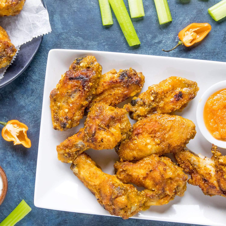 Mango Habanero Chicken Wings Recipe Chili Pepper Madness