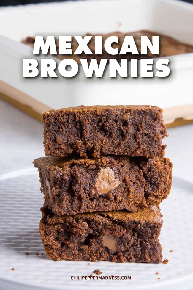 Mexican Brownies - These Mexican Brownies are rich and fudgy with gooey chocolate, seasoned with cinnamon, cayenne powder and my favorite seasoning, ancho powder. Brownies are the best dessert. Here is my recipe. #Brownies #Dessert