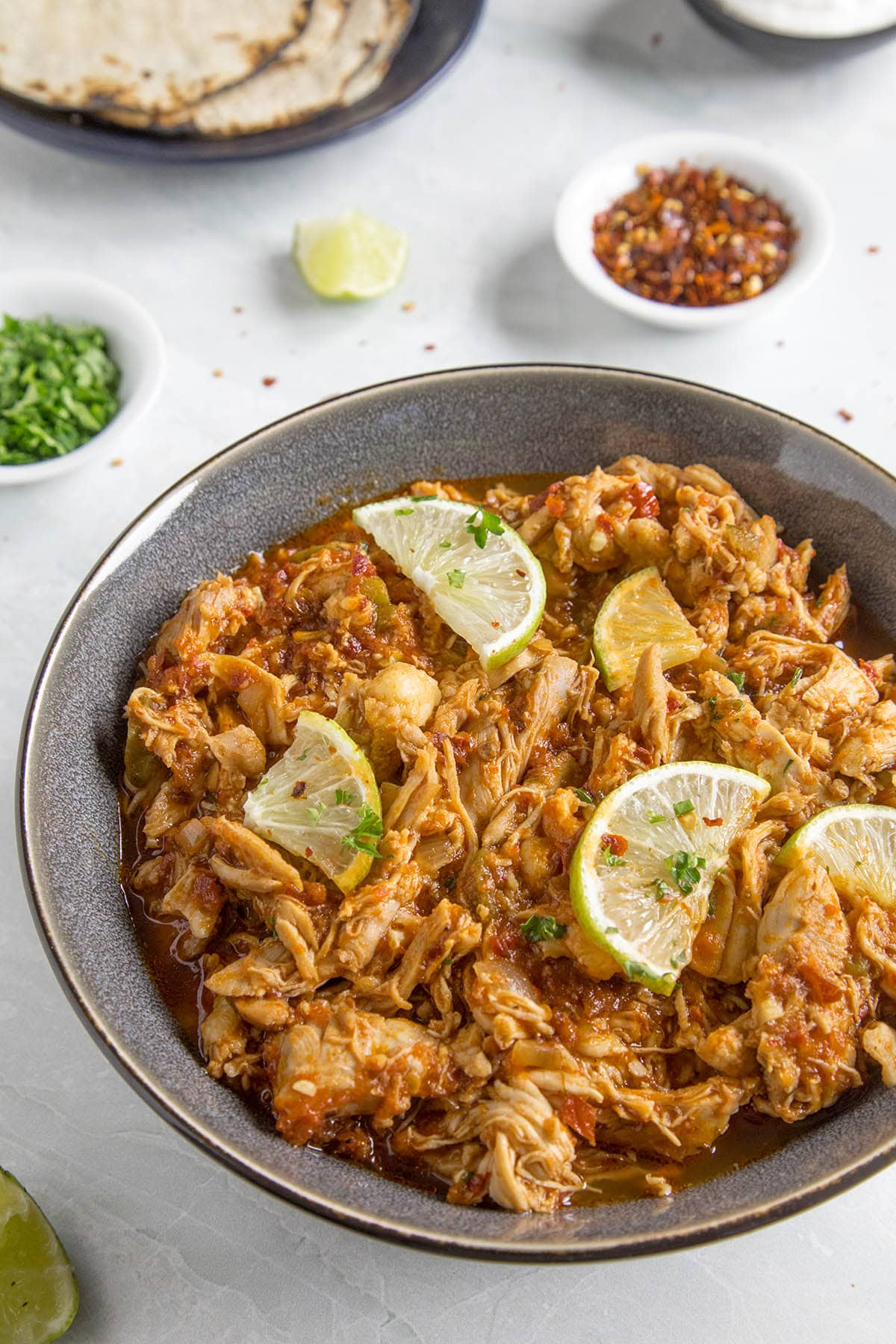 Chicken Tinga (Spicy Chipotle Shredded Chicken)