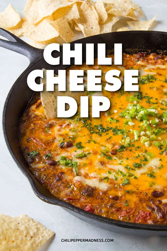 Meaty Chili Cheese Dip - An easy party chili cheese dip recipe made with cream cheese, cheddar, Monterrey jack, jalapenos, ground beef and chili powder. Perfect for game day! All in one pan. Done in 30 minutes. #Appetizer #Dip #PartyFood