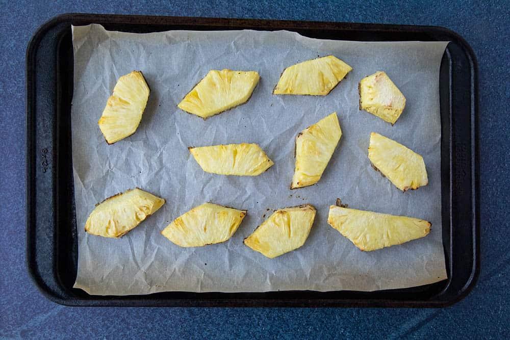 Roasted pineapple