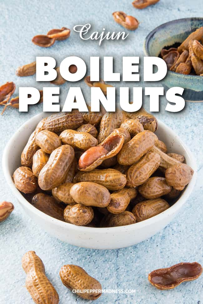 Cajun Boiled Peanuts - This Cajun boiled peanuts recipe brings just the right amount of spice and lets you adjust it to your preference. It\'s a wonderful spicy southern snack or appetizer. #Cajun #Appetizer