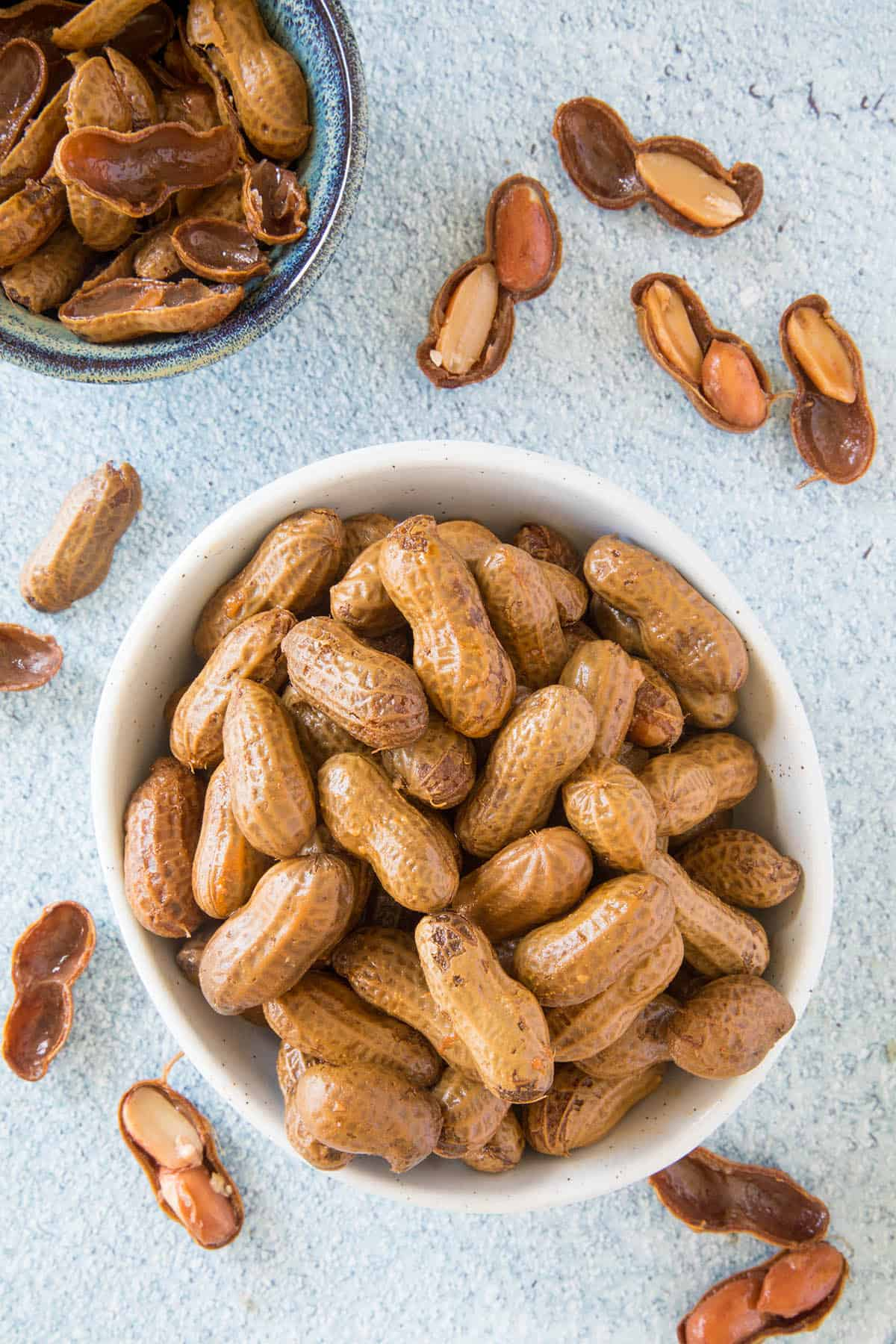 Cajun Boiled Peanuts in a bowl, ready to eat