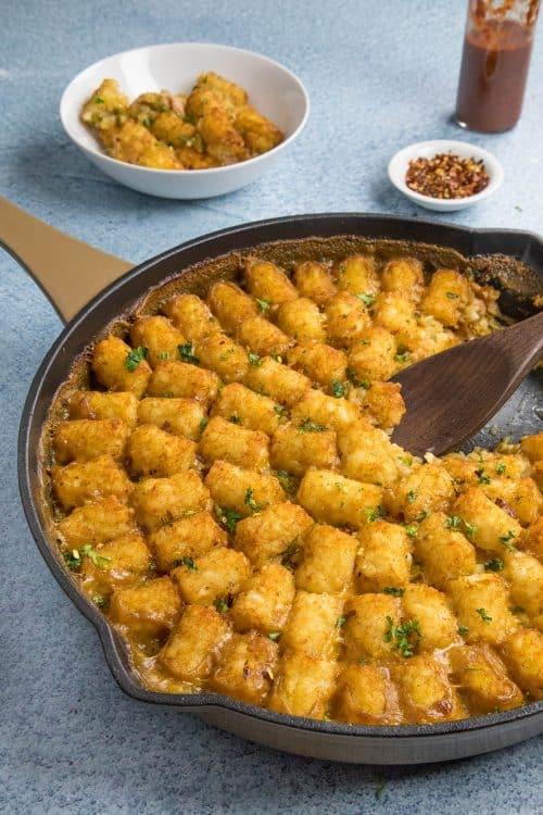 Cajun Ham and Turkey Tater Tot Casserole - Recipe