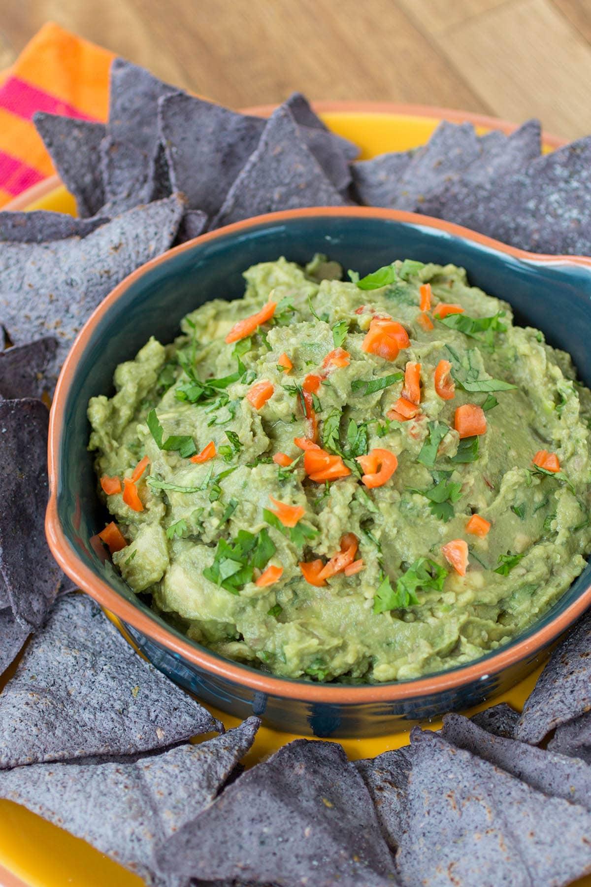 Homemade Spicy Habanero Guacamole