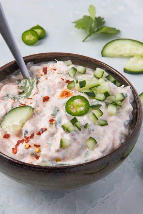 Indian Raita Recipe (Traditional Indian Condiment)