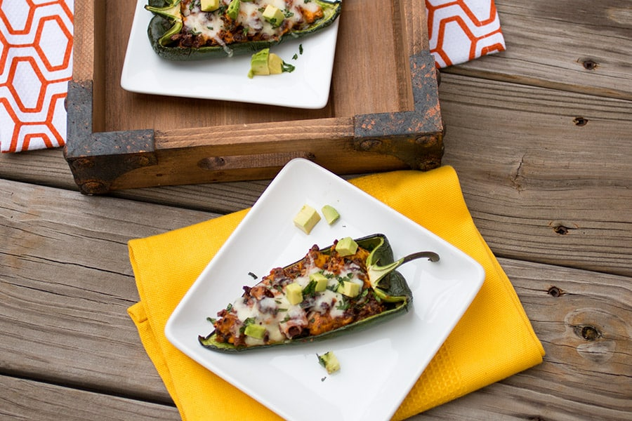 Chorizo and Egg Stuffed Poblano Peppers - Ready to Serve