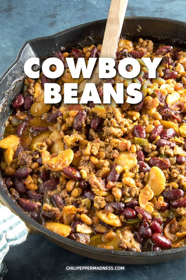 Cowboy Beans Recipe - This cowboy beans recipe is next level with ground beef, bacon and a tangy mixture of sauces and seasonings. Perfect for dinner, cookouts and parties. #SideDish #SouthwestCuisine