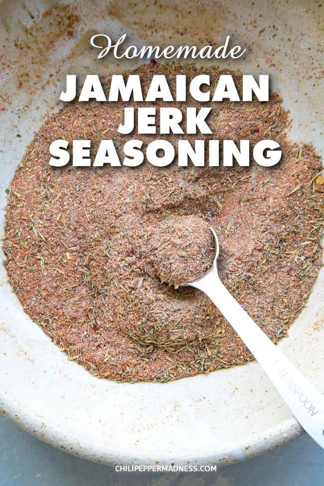 Homemade Jamaican Jerk Seasoning - Make your own Jamaican jerk seasoning blend at home with this easy recipe, filled with loads of piquant and aromatic spices. #Jerk #JamaicanCooking #SeasoningBlend