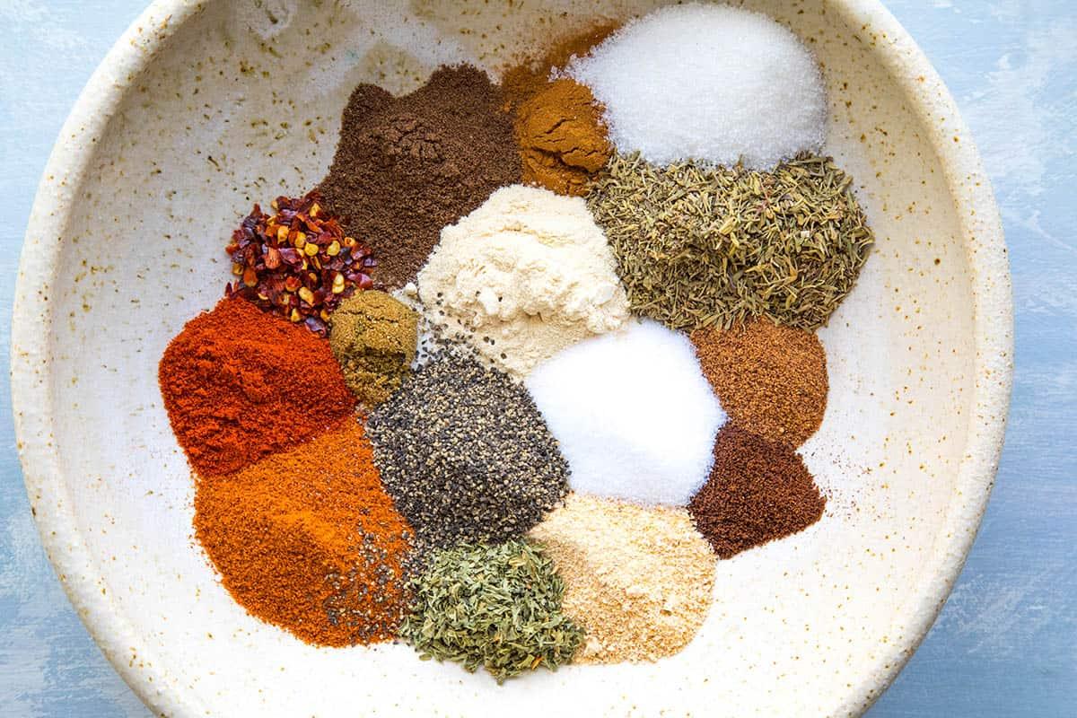Jamaican Jerk Seasoning Ingredients in a bowl