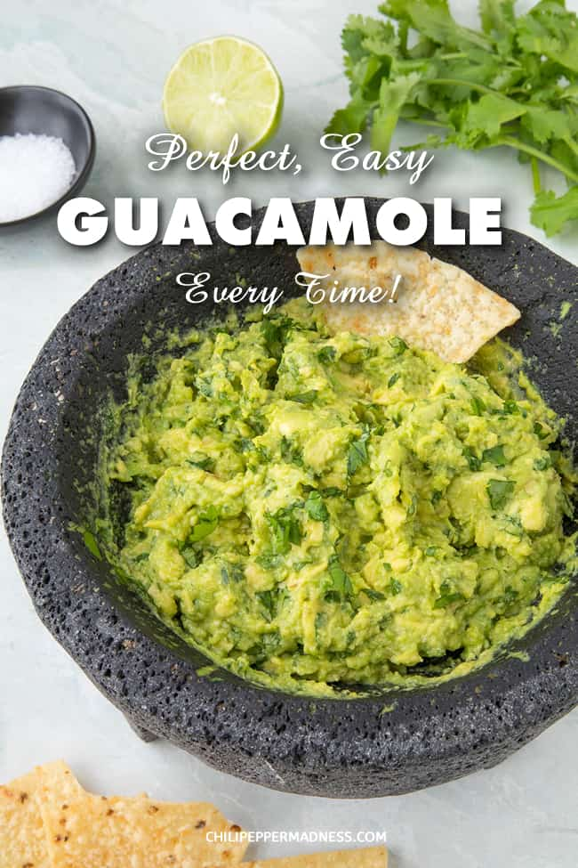 Easy Perfect Homemade Guacamole - Homemade guacamole is an essential side dish for so many meals and is the absolute perfect dip. As we\'ve discussed, there aren\'t many ingredients in guacamole, but each restaurant makes theirs a bit different. This is our favorite version - very simple to start. Use it as your canvas. Experiment and grow. Sometimes the basic, however, is the favorite. #Guacamole #Dip #MexicanFood