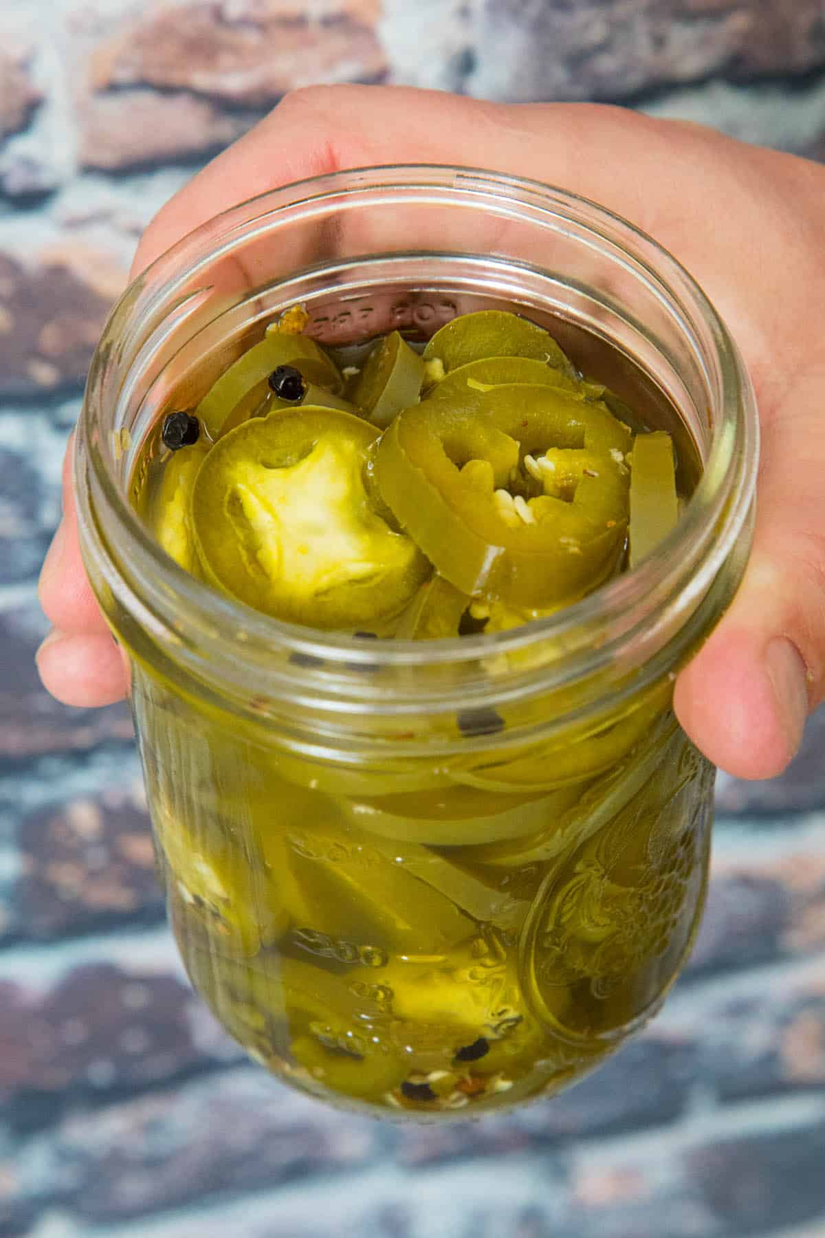 Pickled Jalapenos in a jar