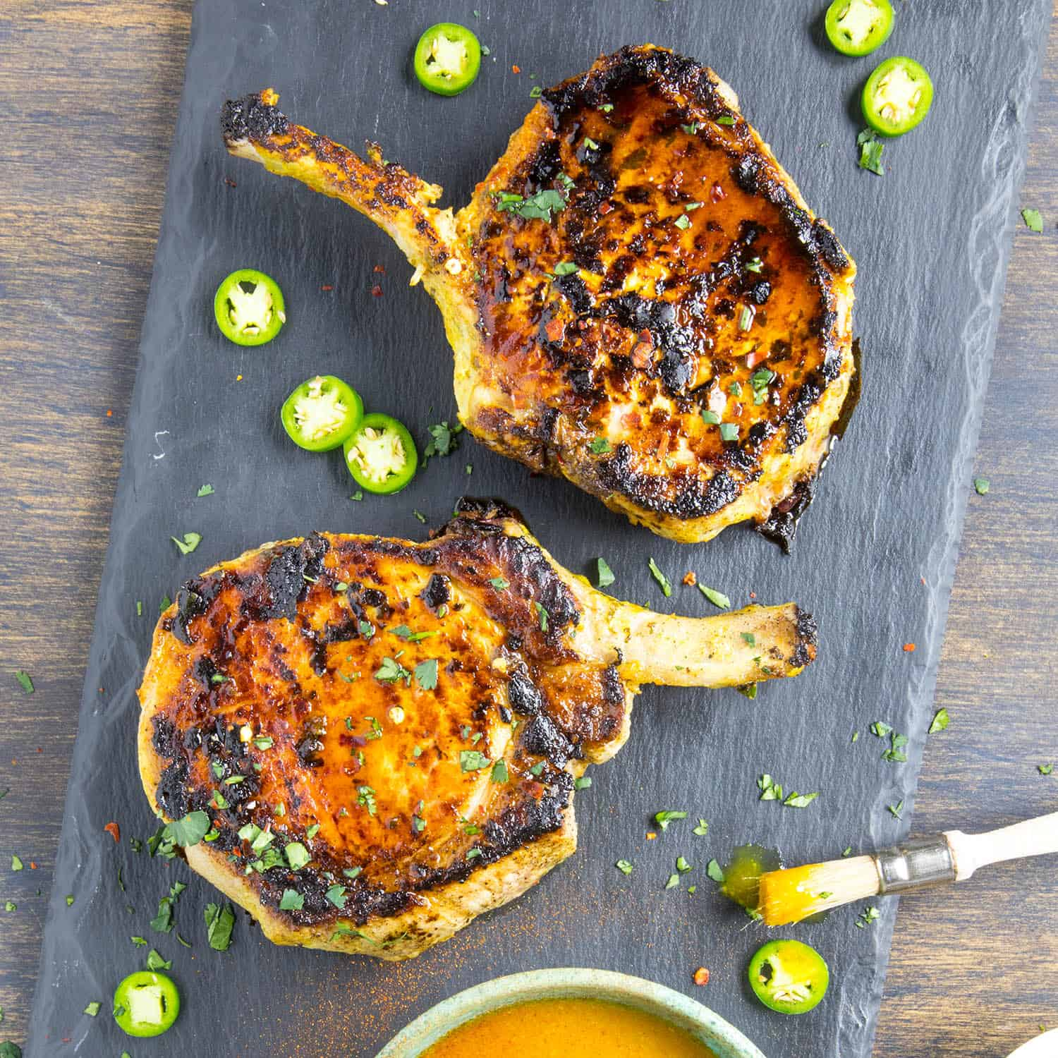 Grilled Pork Chops With Carolina Mustard BBQ Sauce