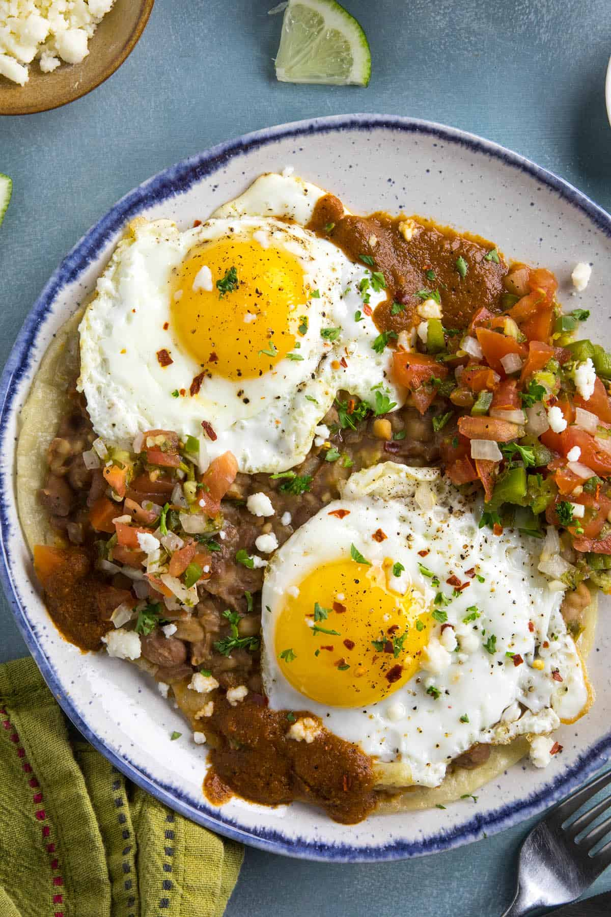 Huevos Rancheros on a plate