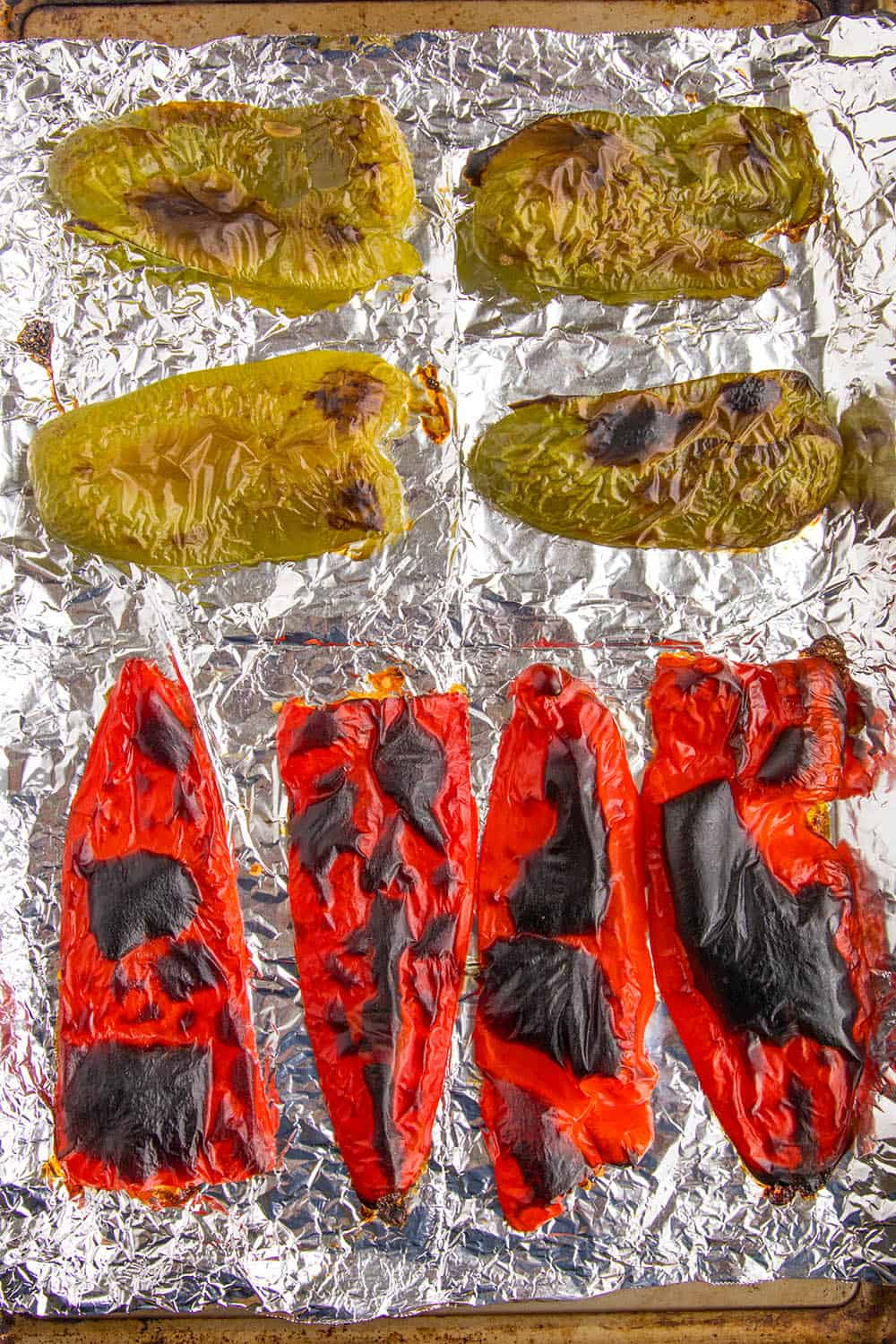 Roasted peppers just out of the oven