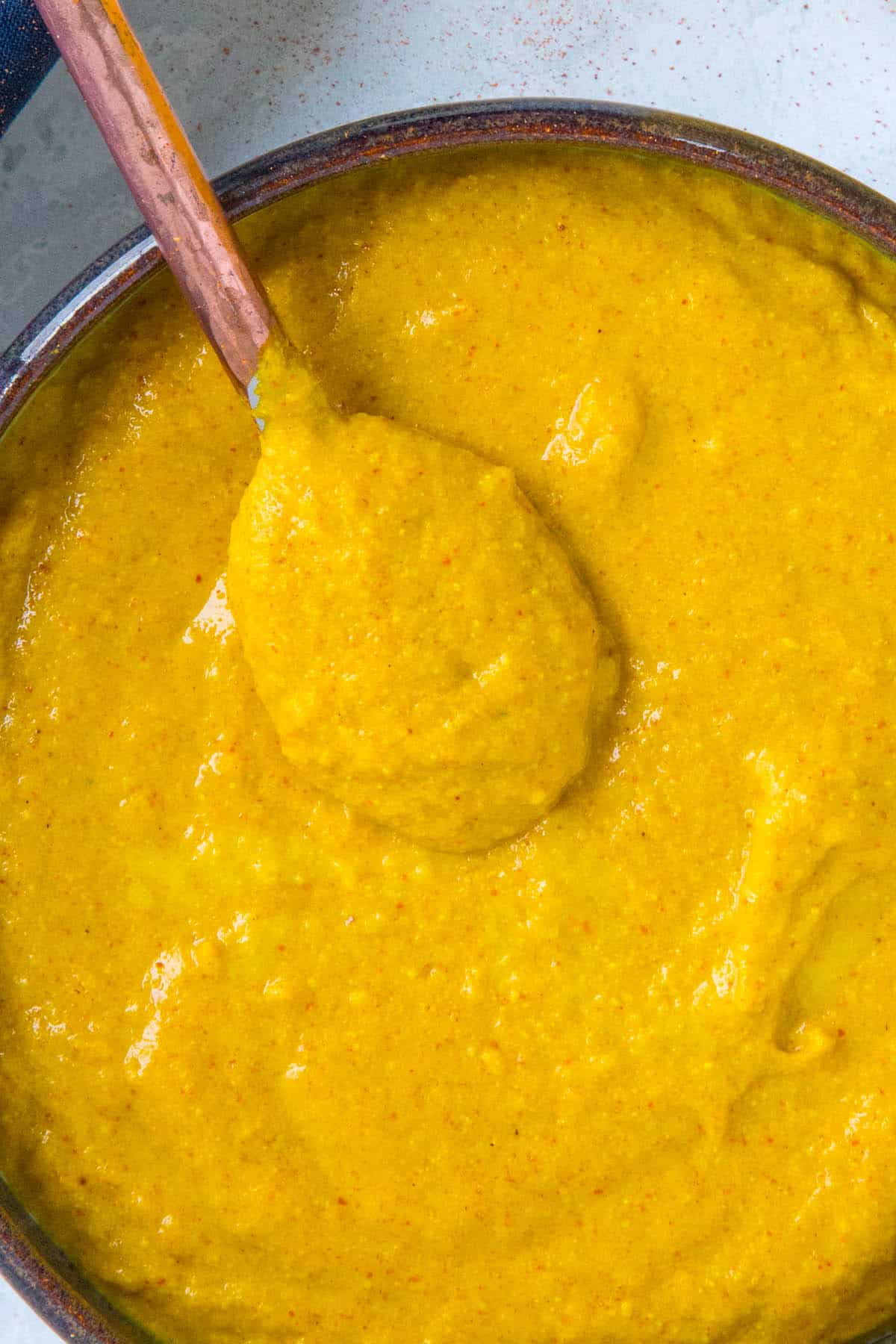 Homemade Yellow Mustard ready to serve