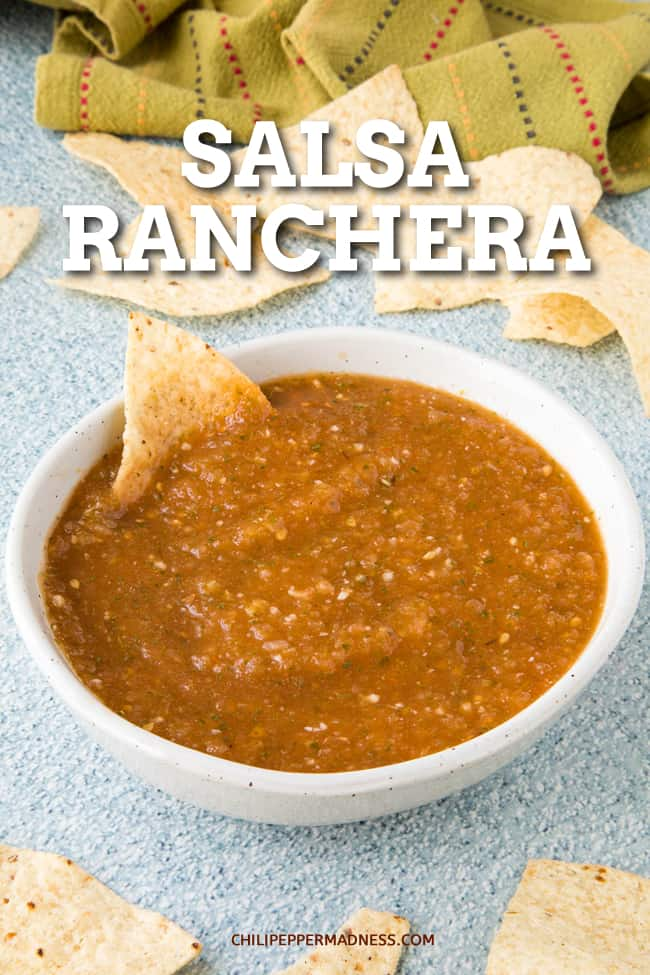 Salsa Ranchera: The Perfect Salsa - This salsa ranchera recipe makes the best salsa, with fresh tomatoes, jalapenos (or serranos), onion, garlic, cilantro and more. Hard to beat this salsa! #Salsa #MexicanRecipe