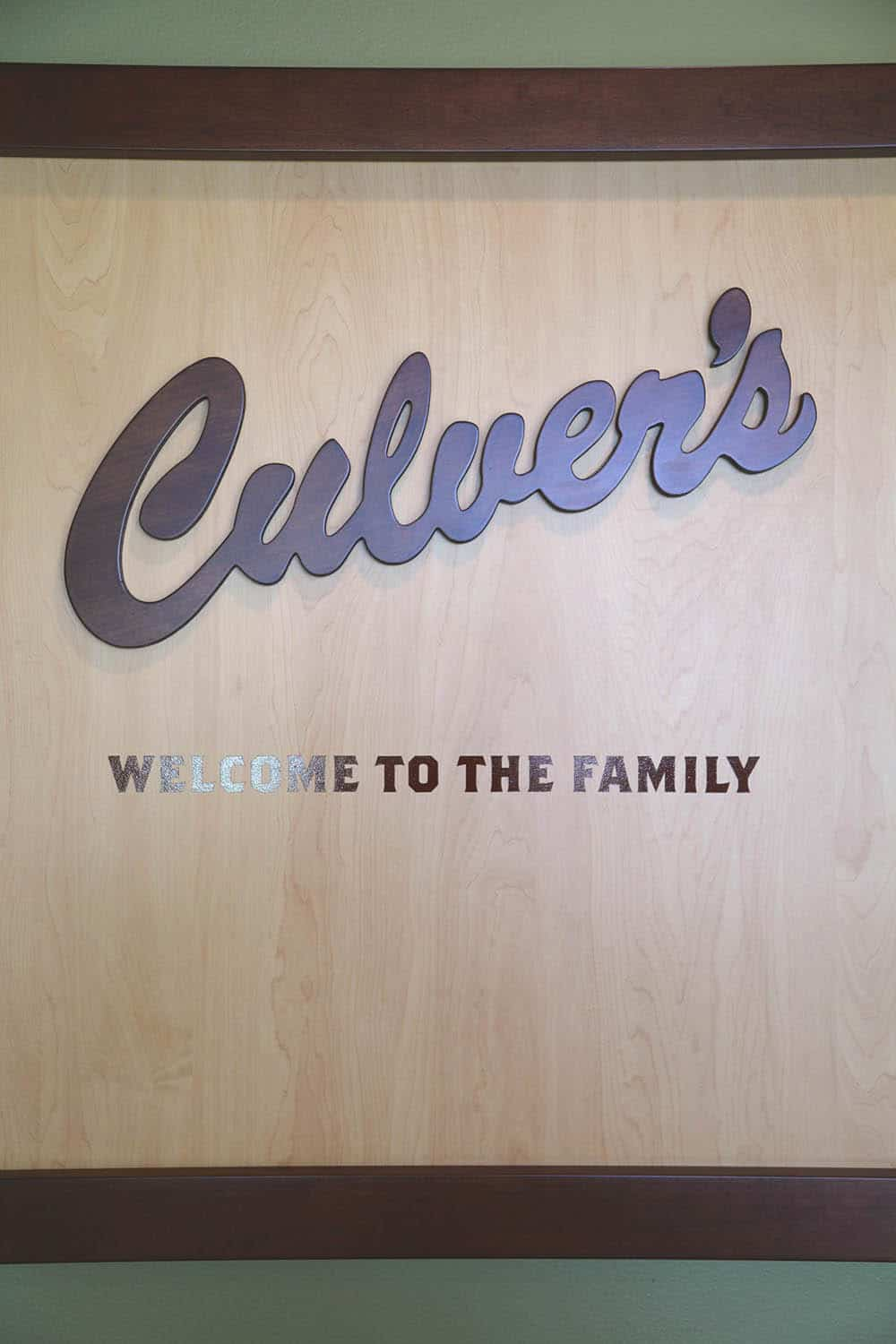 Welcome Sign at Culver's