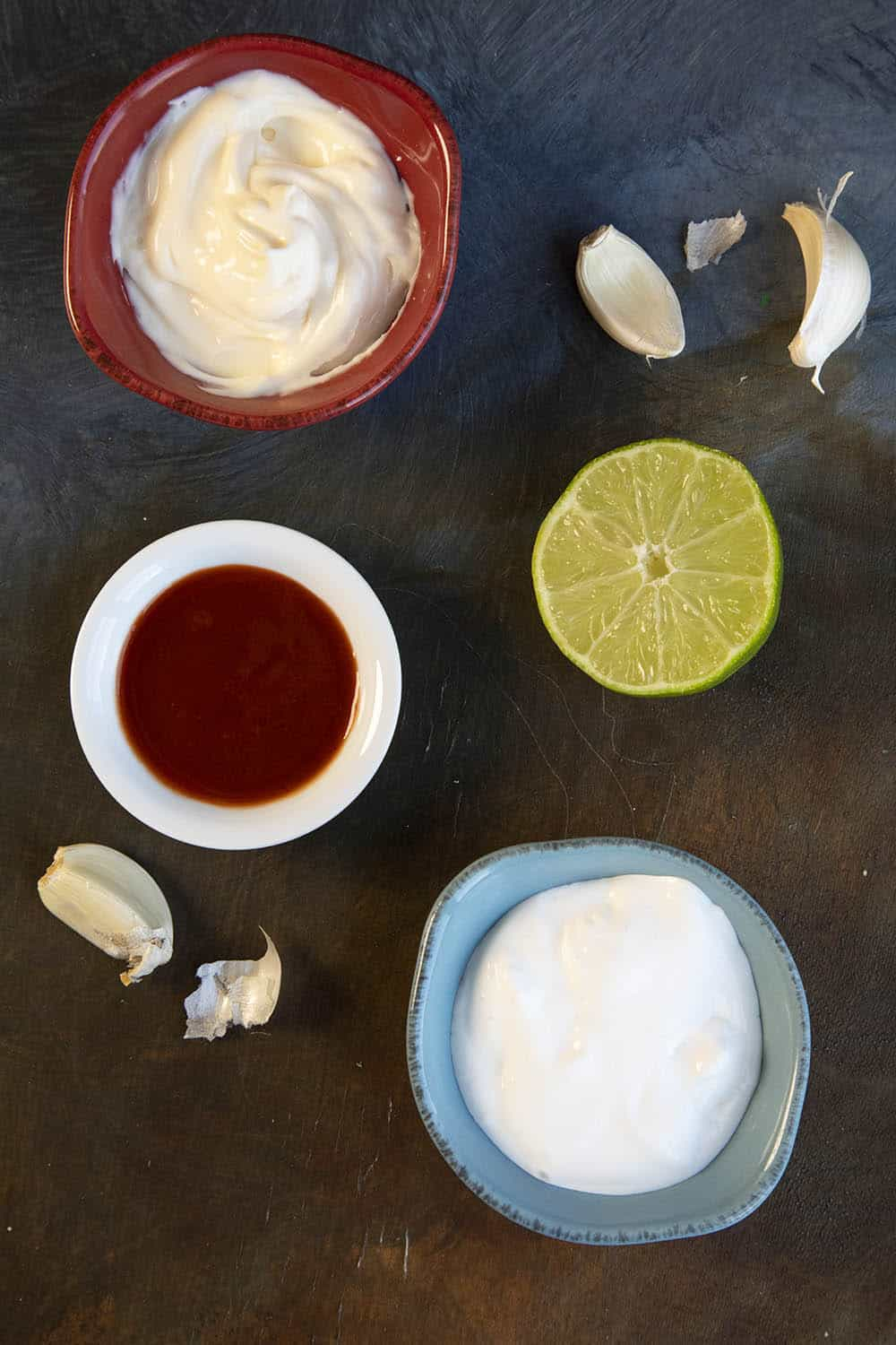 Creamy Fish Taco Sauce ingredients